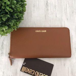 ROBERTO CAVALLI leather continental wallet